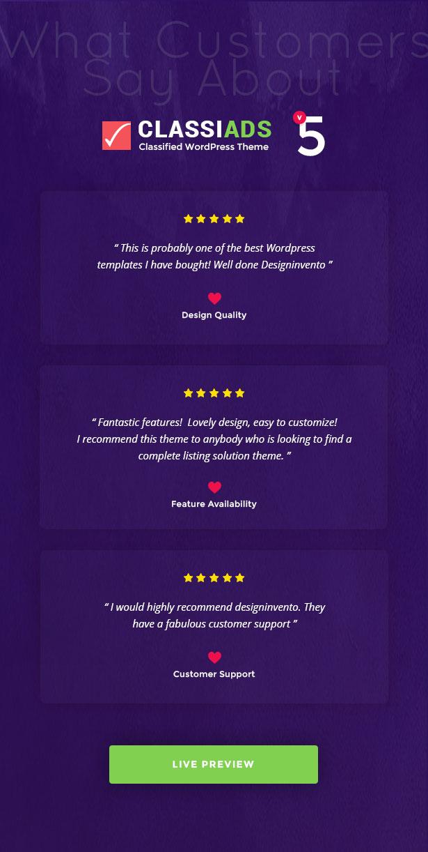 reviews - Classiads - Classified Ads WordPress Theme