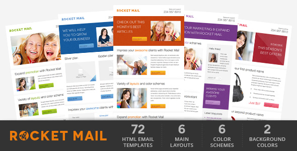 rocketMail - Fresh Newsletter - Hybrid Email Template + Access to Gifky Layout Builder