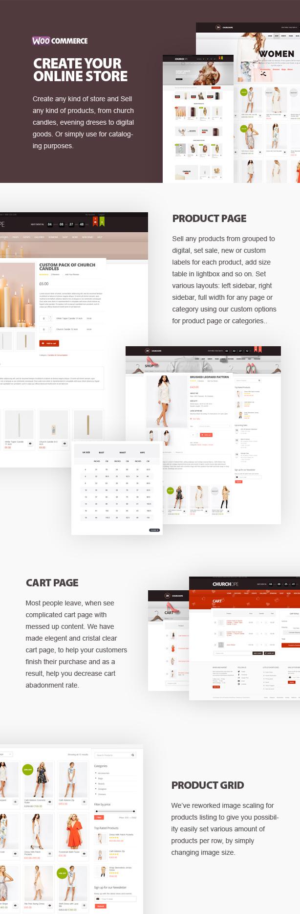 shop - ChurcHope - Responsive WordPress Theme