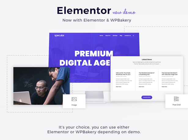 specular elementor - Specular - Business WordPress Multi-Purpose