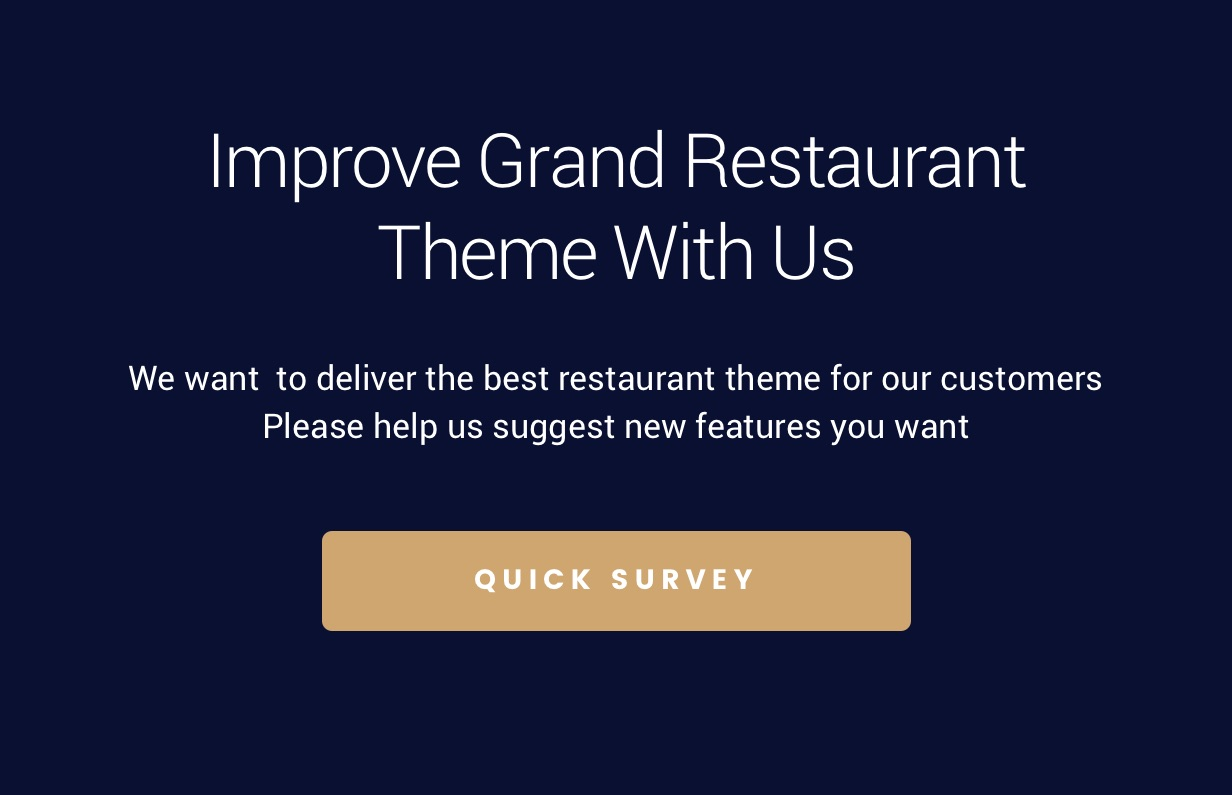 survey - Grand Restaurant WordPress
