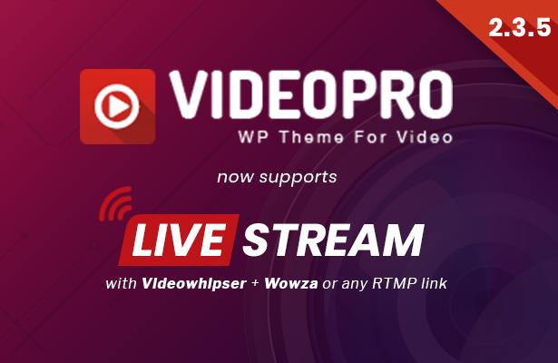 videopro 2.3.5 - VideoPro - Video WordPress Theme