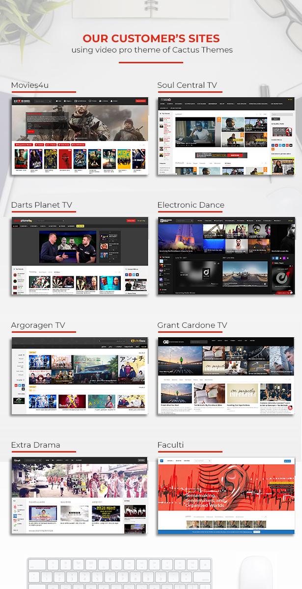videopro customer site - VideoPro - Video WordPress Theme