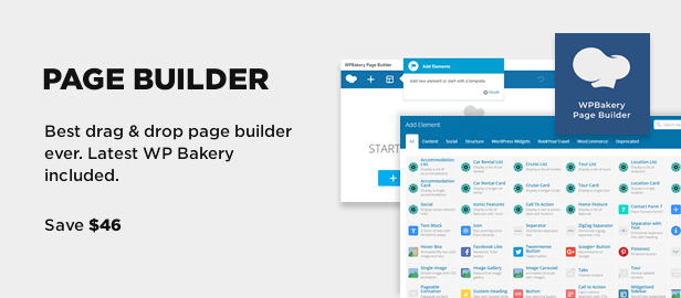 wp bakery page builder - Book Your Travel - Online Booking WordPress Theme