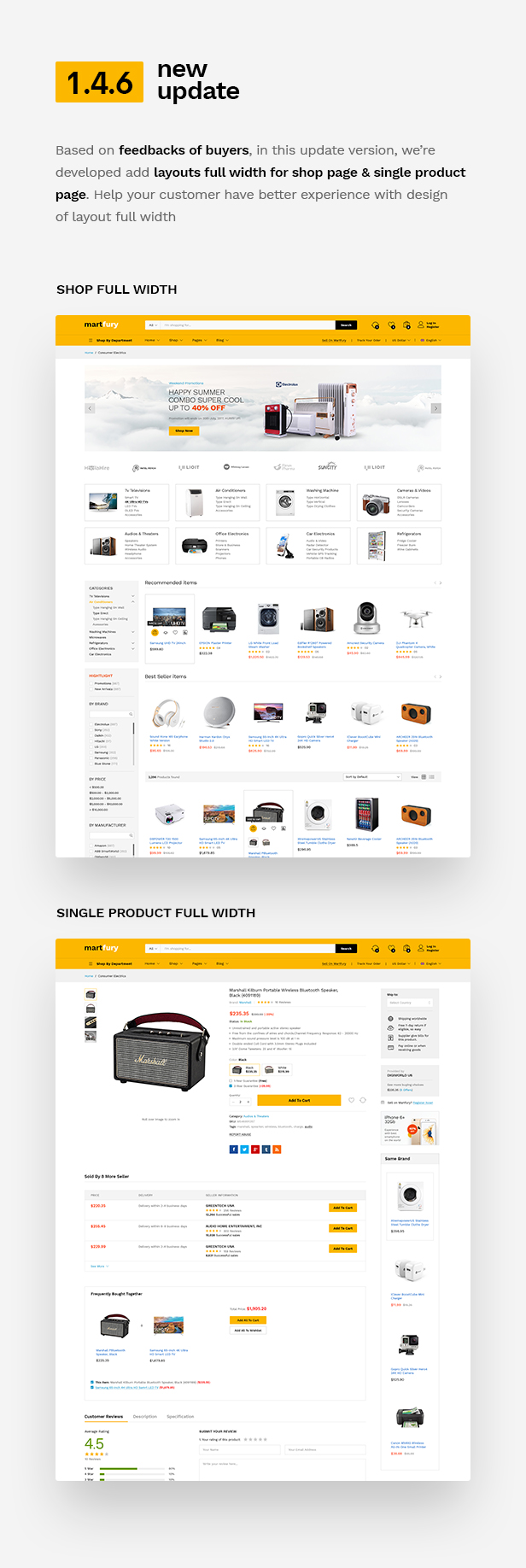 wp update 1.4.6 - Martfury - WooCommerce Marketplace WordPress Theme