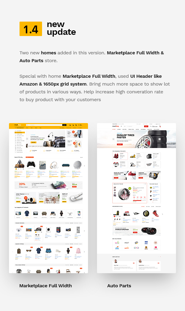 wp update 1.4 - Martfury - WooCommerce Marketplace WordPress Theme