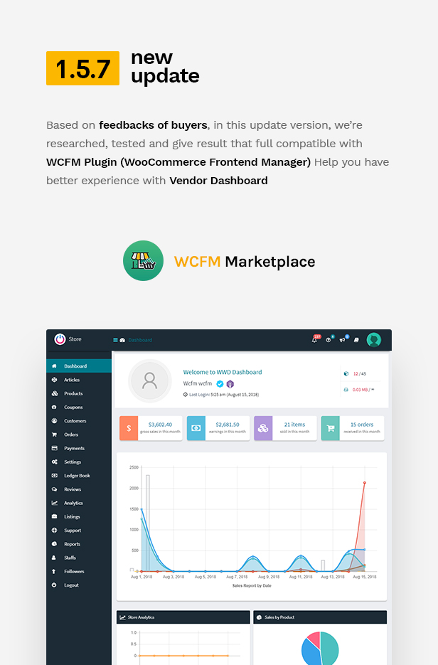 wp update 1.5.7 - Martfury - WooCommerce Marketplace WordPress Theme