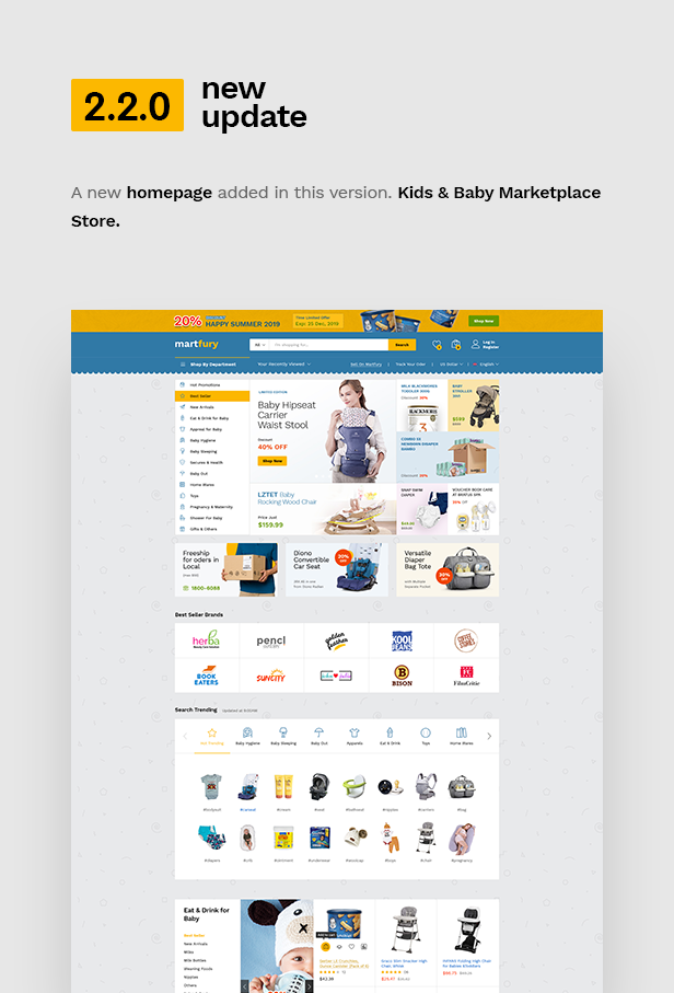 wp update 2.2.0 - Martfury - WooCommerce Marketplace WordPress Theme