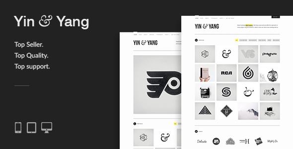 yin yang preview.  large preview - Yin & Yang: Clean & Interactive WordPress Portfolio Theme
