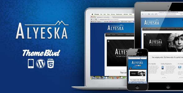 01.  large preview - Alyeska Responsive WordPress Theme
