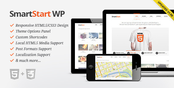 01 Preview.  large preview - SmartStart WP - Responsive HTML5 Theme