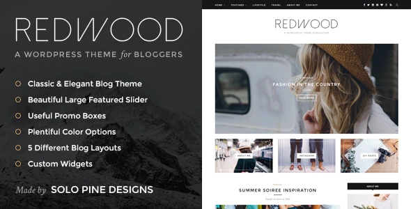 01 Preview.  large preview - Redwood - A Responsive WordPress Blog Theme