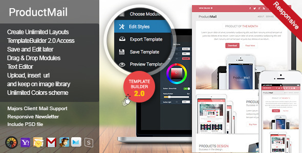 01 ThemePreview.  large preview - ProductMail - Responsive E-mail Template