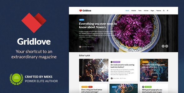 01 gridlove.  large preview - Gridlove - News Portal & Magazine WordPress Theme