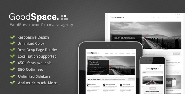 01 intro.  large preview - Good Space - Responsive Minimal WP Theme