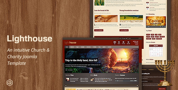 01 lighthouse church joomla template.  large preview - Lighthouse - Responsive Charity Church Joomla Template