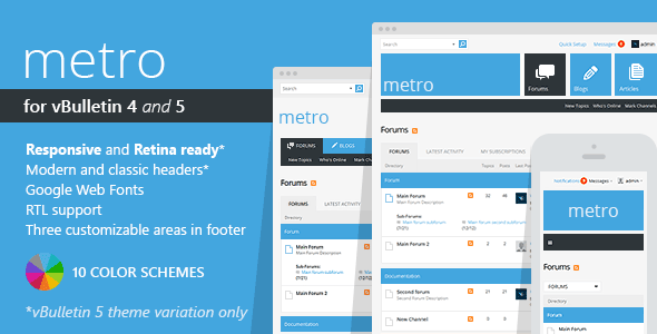 01 metro preview.  large preview - Metro - A Theme for vBulletin 4 and 5