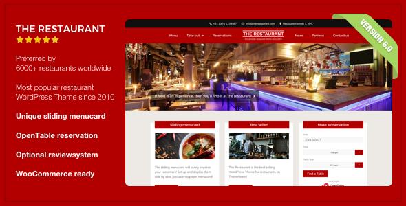 01 themeforest splash.  large preview - The Restaurant