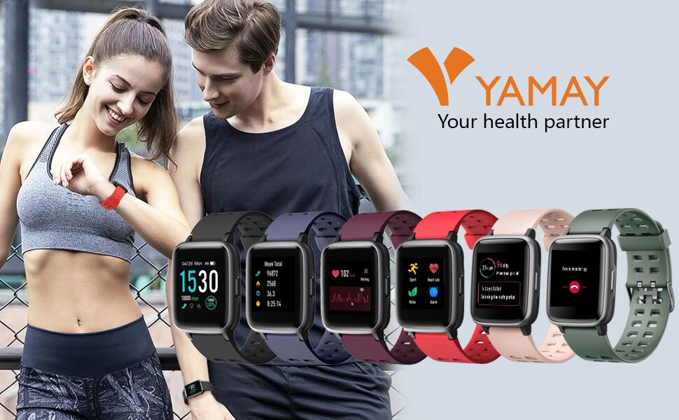 05e4f3fd 6f3d 4269 85a4 7d9b4e91cf18.  CR0,0,970,600 PT0 SX970 V1    - YAMAY Smart Watch for Android and iOS Phone IP68 Waterproof, Fitness Tracker Watch with Heart Rate Monitor Step Sleep Tracker, Smartwatch Compatible with iPhone Samsung, Watch for Men Women