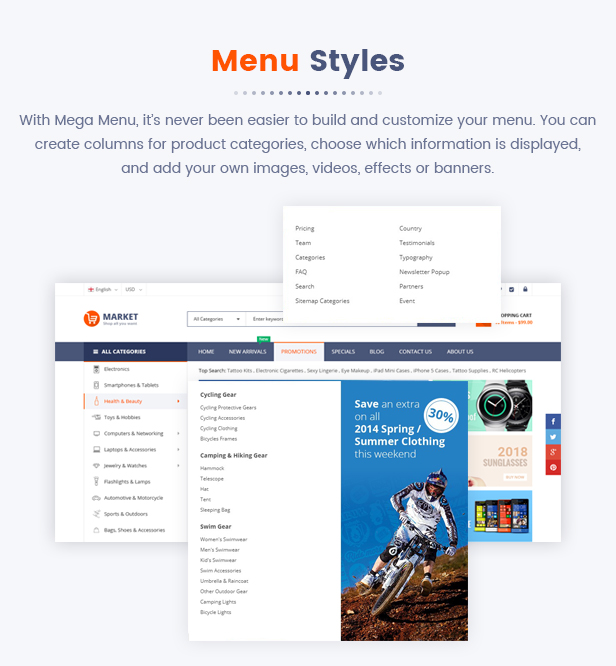 06 Menu Styles1 - Market - Premium Responsive Magento 2 and 1.9 Store Theme with Mobile-Specific Layout (23 HomePages)