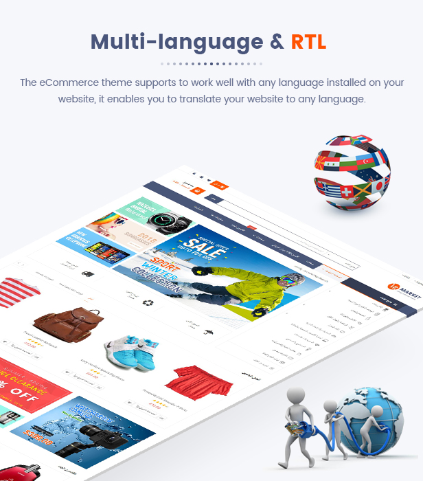 08 Mulilanguage RTL - Market - Premium Responsive Magento 2 and 1.9 Store Theme with Mobile-Specific Layout (23 HomePages)