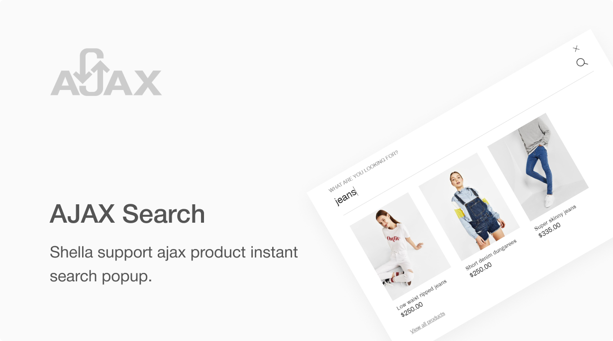 10 ajax search - Shella - Multipurpose Shopify theme, fastest with the banner builder