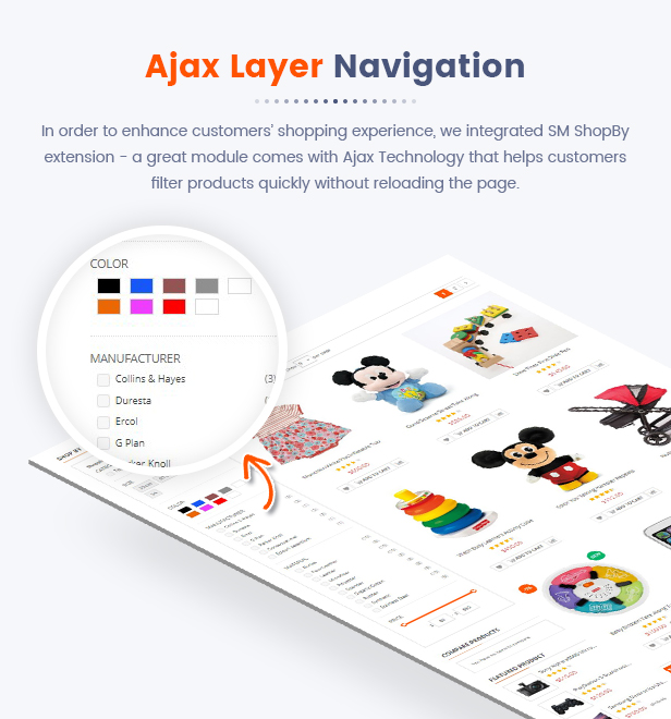 11 Ajax Layer Navigation - Market - Premium Responsive Magento 2 and 1.9 Store Theme with Mobile-Specific Layout (23 HomePages)