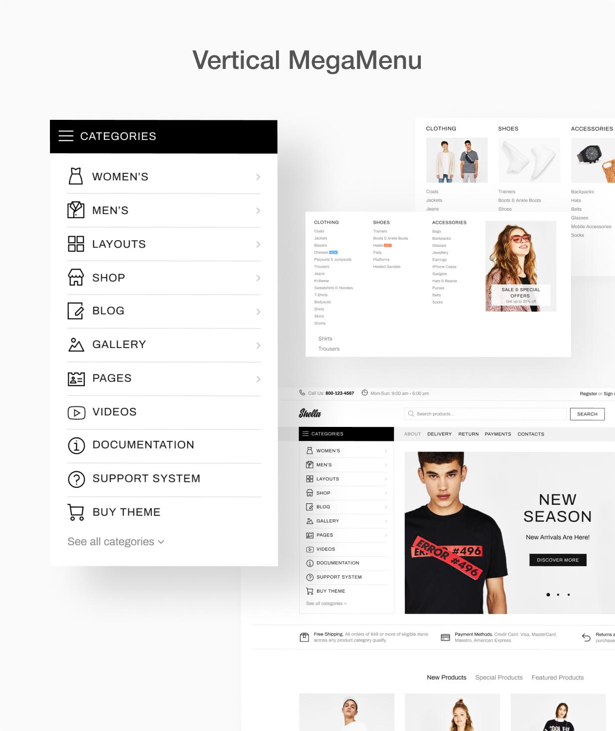 12 2 vertical mega menu - Shella - Multipurpose Shopify theme, fastest with the banner builder