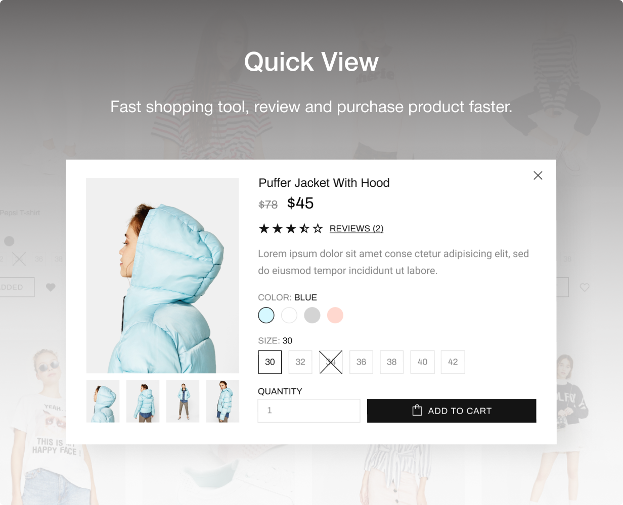 14 quick view - Shella - Multipurpose Shopify theme, fastest with the banner builder