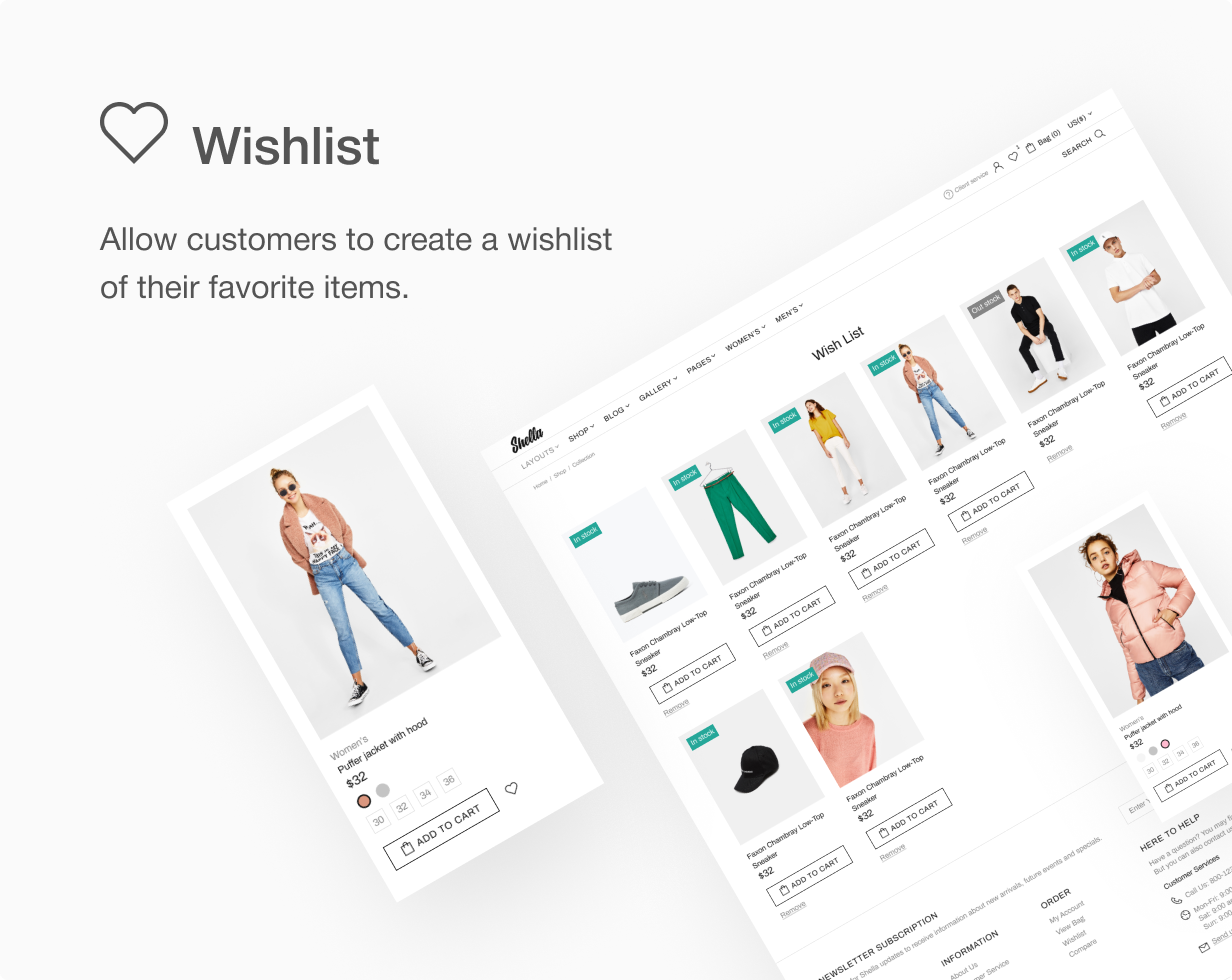 15 wishlist - Shella - Multipurpose Shopify theme, fastest with the banner builder