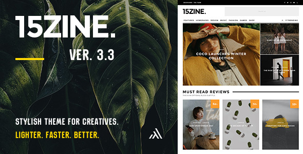 15zine preview 09 2020.  large preview - 15Zine - HD Magazine / Newspaper WordPress Theme