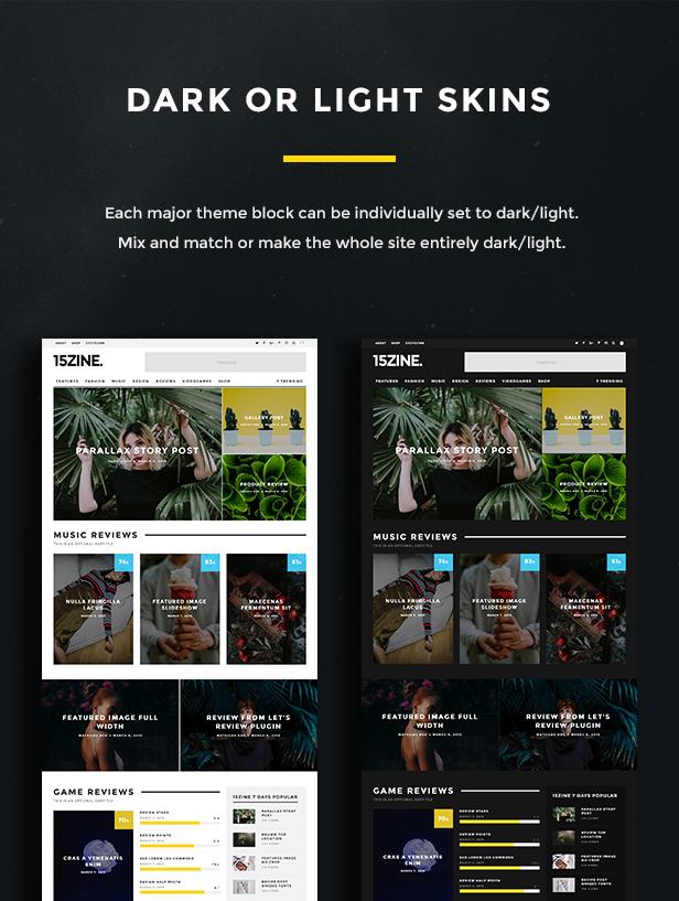 15zine v3 pre 5 - 15Zine - HD Magazine / Newspaper WordPress Theme