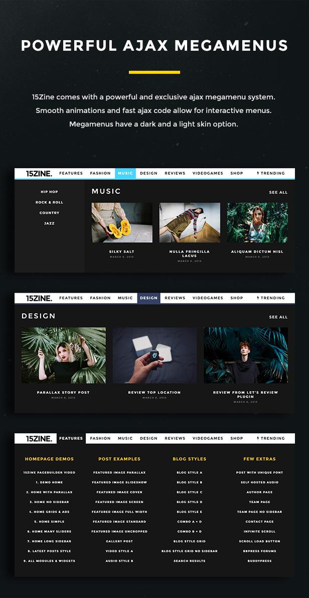 15zine v3 pre 9 - 15Zine - HD Magazine / Newspaper WordPress Theme