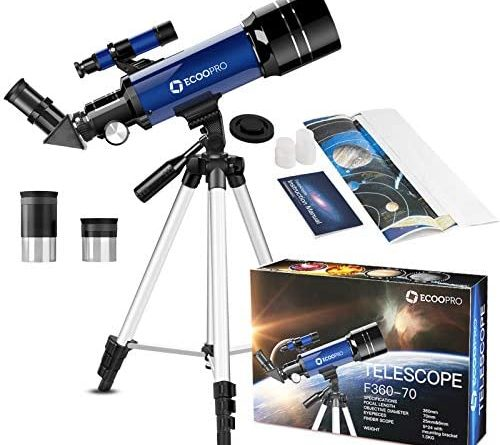 1605139426 51ShVxK7KyL. AC  500x445 - Telescope for Kids Beginners Adults, 70mm Astronomy Refractor Telescope with Adjustable Tripod - Perfect Telescope Gift for Kids