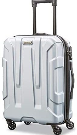 1605498912 41dyu0ogfLL. AC  254x445 - Samsonite Centric Hardside Expandable Luggage with Spinner Wheels, Silver, Carry-On 20-Inch