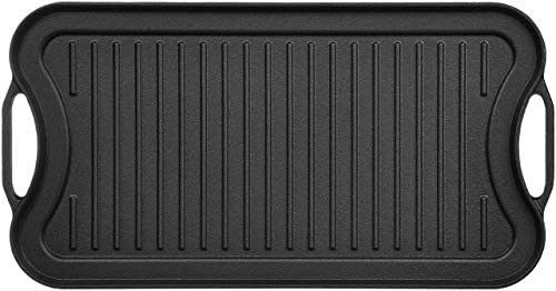 1606033629 41enwPeEgYL. AC  - AmazonBasics Pre-Seasoned Cast Iron Reversible Grill/Griddle