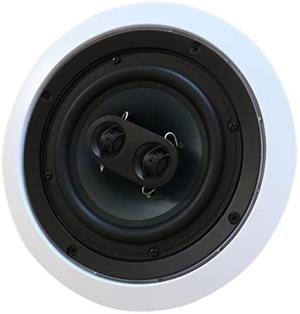 1606078150 41 OJrqGg9L. AC  - 652S2C Silver Ticket in-Wall in-Ceiling Speaker with Pivoting Tweeter (2 Channel Stereo 6.5 Inch in-Ceiling) 9.4 inch Overall Size