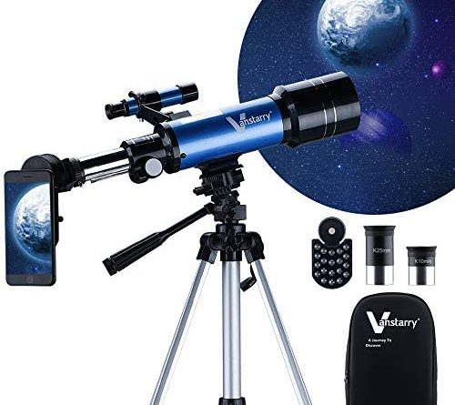 1606211409 51hKbHC0pML. AC  500x445 - Vanstarry Telescopes for Kids, Travel Kids Telescope, 70mm Aperture 400mm AZ Mount Astronomical Refractor Telescopes for Adults Astronomy Beginners, Portable Travel Telescopes with Carry Bag