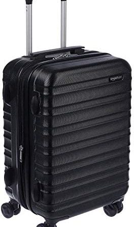 1606564089 41W5 duvLkL. AC  264x445 - AmazonBasics Hardside Carry-On Spinner Suitcase Luggage - Expandable with Wheels - 21 Inch, Black