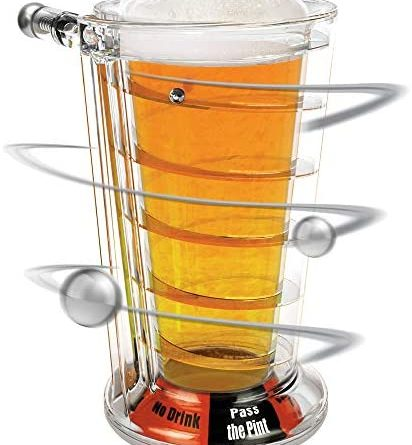 1606697245 51hCs7P9znL. AC  412x445 - Barbuzzo Pinball Pint Glass - Play This Iconic Arcade Game While You Down A Pint - Always Be the Life of the Party With the Newest Drinking Game in Town