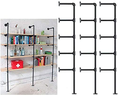 1606744447 41ZQaDB8phL. AC  - Industrial Retro Wall Mount Iron Pipe Shelf,DIY Open Bookshelf,Hung Bracket,Home Improvement Kitchen Shelves,Tool Utility Shelves, Office Shelves,Ceiling Mount Shelf Shelves