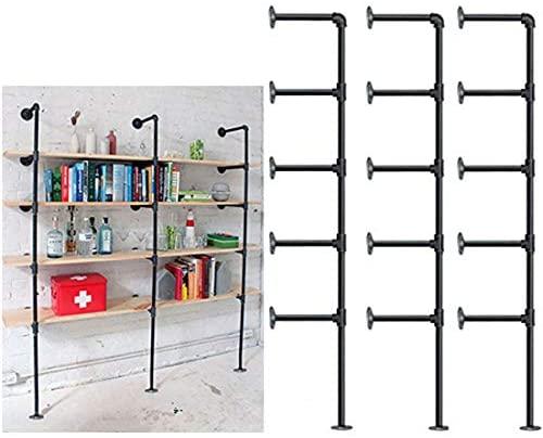 1606744447 41ZQaDB8phL. AC  - Industrial Retro Wall Mount Iron Pipe Shelf,DIY Open Bookshelf,Hung Bracket,Home Improvement Kitchen Shelves,Tool Utility Shelves, Office Shelves,Ceiling Mount Shelf Shelves
