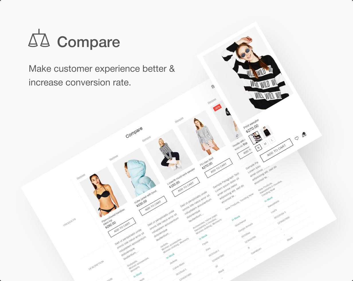 16 compare 1 - Shella - Multipurpose Shopify theme, fastest with the banner builder