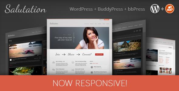 1 Banner Salutation WP.  large preview - Salutation Responsive WordPress + BuddyPress Theme