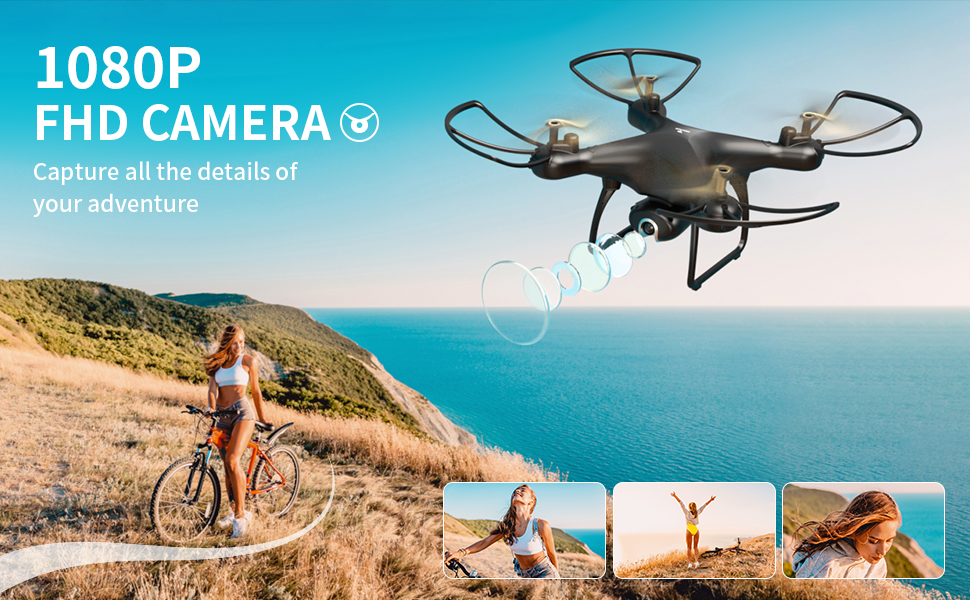 1ae55961 ac45 4f9a b593 bb543a2854fb.  CR0,0,970,600 PT0 SX970 V1    - SNAPTAIN SP650 1080P Drone with Camera for Adults 1080P HD Live Video Camera Drone for Beginners w/Voice Control, Gesture Control, Circle Fly, High-Speed Rotation, Altitude Hold, Headless Mode