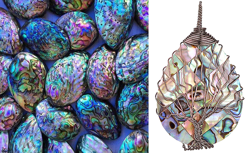 22b25712 cd97 4f14 bd9c 30808b8ae6e1.  CR0,0,970,600 PT0 SX970 V1    - sedmart Tear Drop Abalone Shell Pendent Necklace Wire Wrap Abalone Shell Tree of Life Pendant Necklace Fashion Necklace Jewelry for Women Handmade Necklace Mothers Day Necklace for mom Jewelry