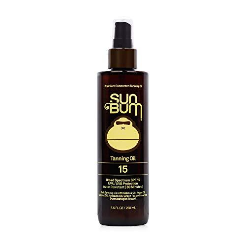 311pyDHR7NL - Sun Bum Moisturizing Tanning Oil, SPF 15, 8.5 oz Bottle, 1 Count, Broad Spectrum UVA/UVB Protection, Coconut Oil, Aloe Vera, Hypoallergenic, Paraben Free, Gluten Free, Vegan