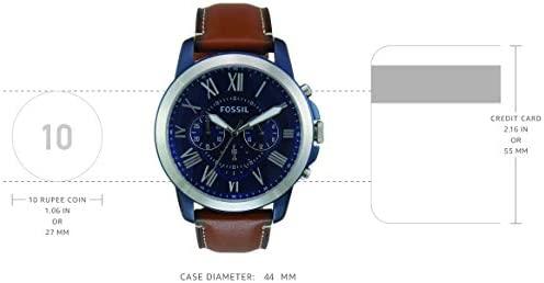 31X9fw9tlcL. AC  - Fossil Men's Grant Stainless Steel Chronograph Quartz Watch