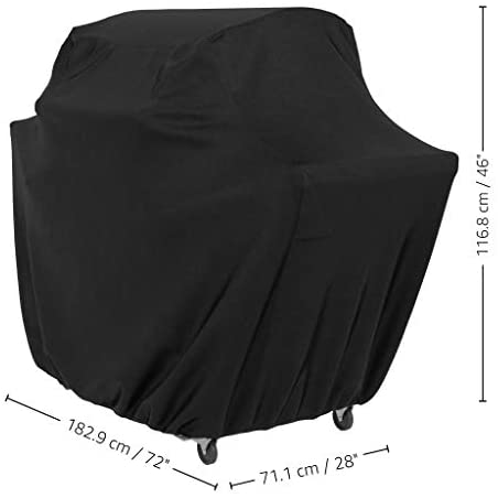 31Xem kF1 L. AC  - AmazonBasics Gas Grill Barbecue Cover, 72 inch / XL, Black