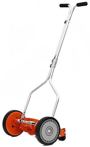 31p3RqhhURL. AC  - American Lawn Mower Company 1204-14 14-Inch 4-Blade Push Reel Lawn Mower, Red